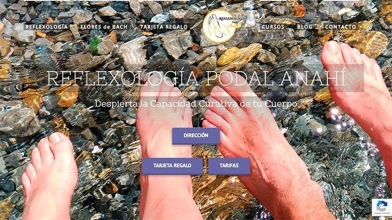 Páginas Web Profesionales Reflexología Podal Anahí Cabecera