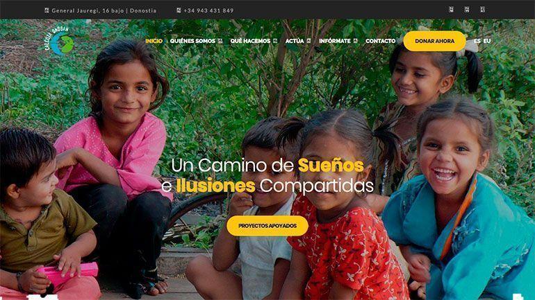 Páginas Web Profesionales Calcuta Ondoan ONG Cabecera