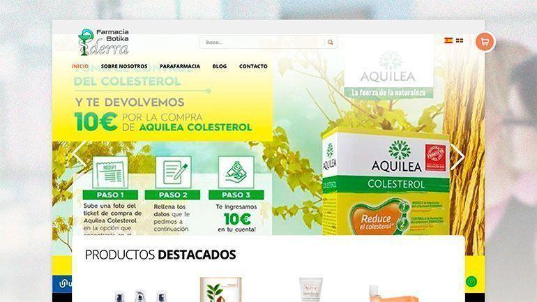 Tienda Online Farmacia Ederra Cabecera