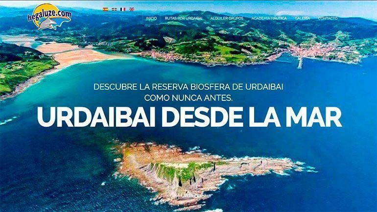 Página Web Hegaluze Cabecera