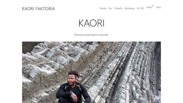 Tienda Online Kaori Faktoria Cabecera