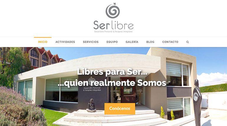 Página Web Ser Libre Cabecera