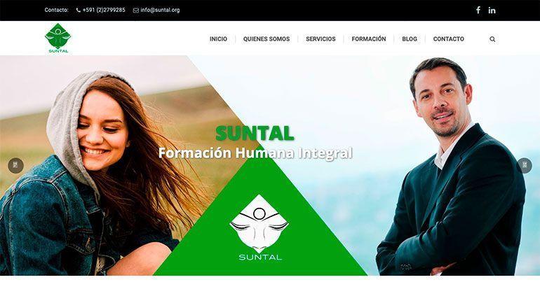 Páginas Web Profesionales Página Web Suntal Cabecera
